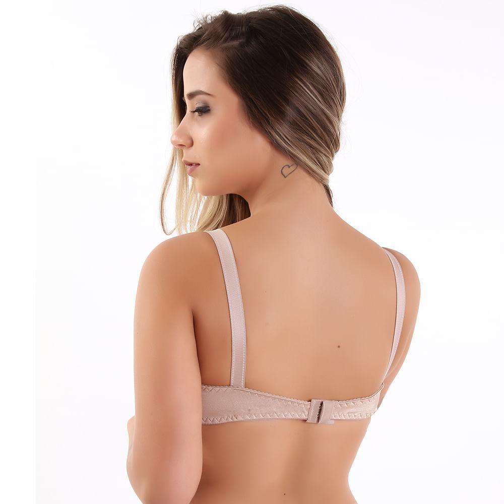 3f62a623a Vest Rio - Sutiã Reforçado Sem Bojo em Lycra e Renda Chocolate - vestrio
