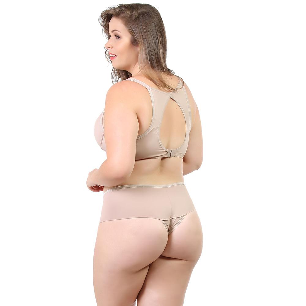 2fe985a97 Conjunto Plus Size Nadador com Bojo em Poliamida Lisa Chocolate 18020 -  Chocolate 48