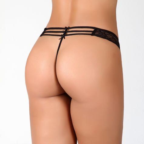 Tanga-Fio-Sexy-com-3-Lacos-em-Poliamida-MYB001-Preto