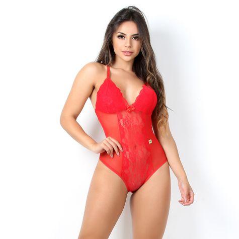 Body-Sexy-Sem-Bojo-em-Tule-e-Renda-com-Decote-nas-costas-Vermelho-CG06