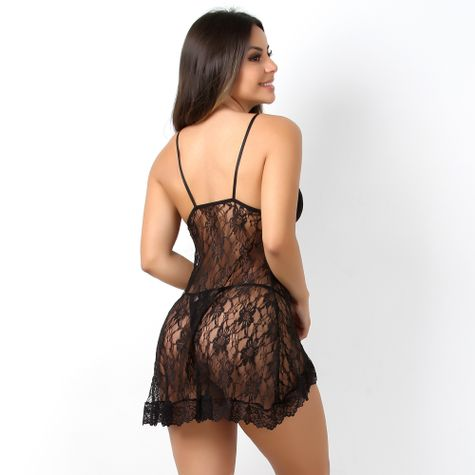 Camisola-Sexy-em-Renda-com--Abertura-Frontal-Preto-CG16