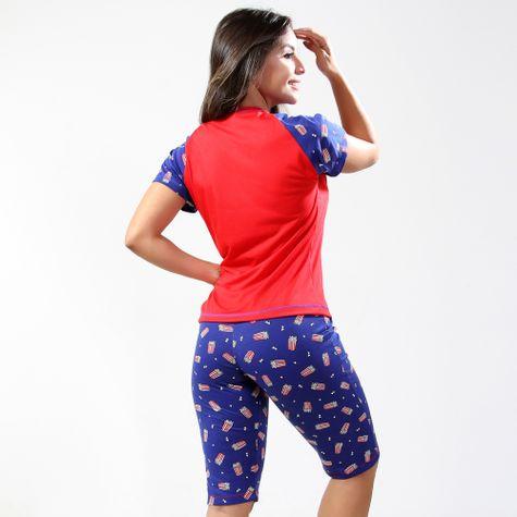 Pijama-Feminino-com-Bermuda-Estampado-GBR001