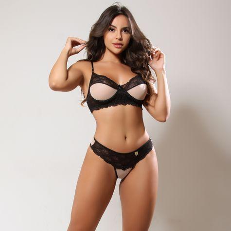 Conjunto-Sexy-Sem-Bojo-Com--Aro-e-Tule-Preto-ZZ001