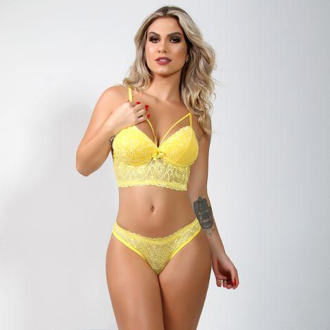 Conjunto-Cropped-com-Bojo-em-Renda-Lisa-e-Strappy-Amarelo-3073