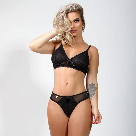 Conjunto-Sexy-Sem-Bojo-Em-Tule-e-Renda-Preto