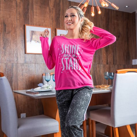 Pijama-Longo-Feminino-Adulto-de-Malha-Estampado-Pink
