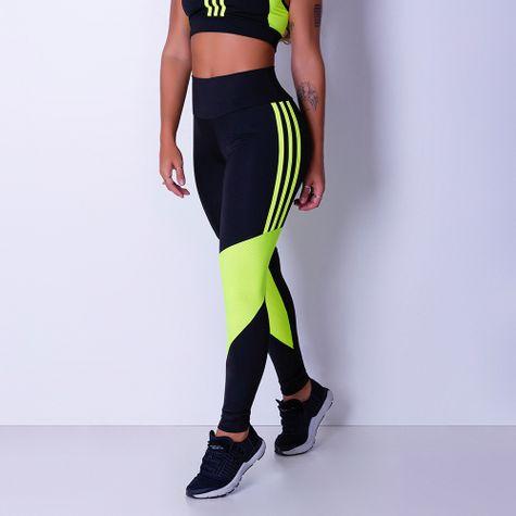 Calca-Legging-Com-Listras-Verde-Neon-e-Cintura-Alta